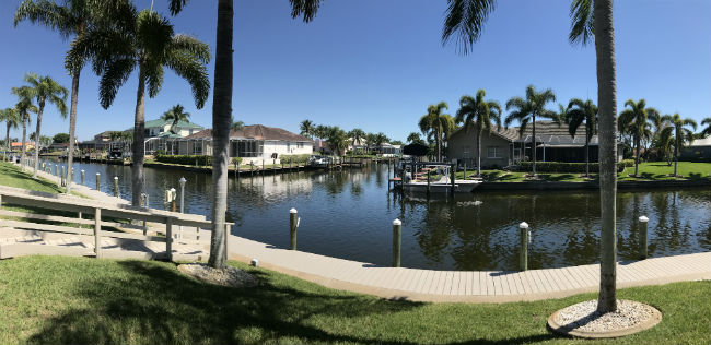 Beautiful water views at Dockside Condo Cape Coral
