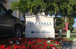 Pink Shell Resort Entrance Sign