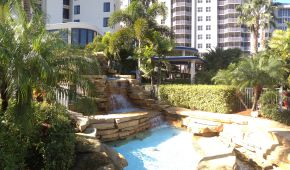 Point Estero waterfall from Pool