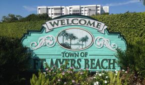 Welcome to Fort Myers Beach sign