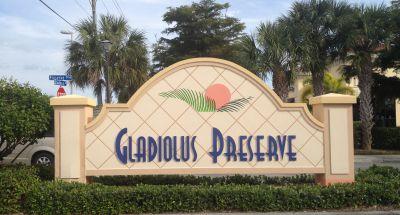 Gladiolus Preserve Fort Myers Entry Sign
