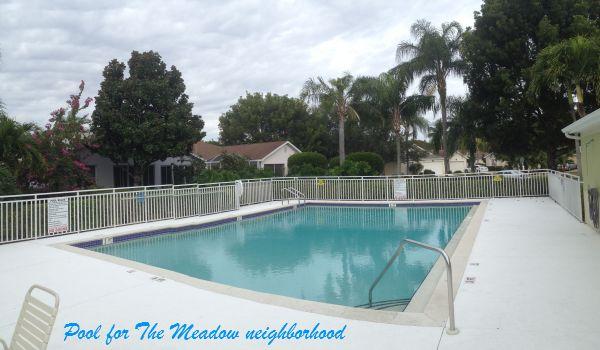 The Meadow neighborhood pool and clubhouse.