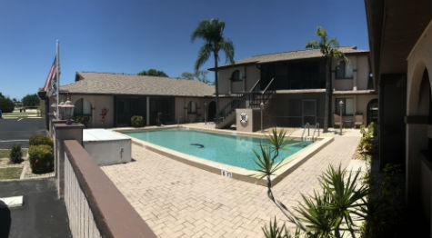 The Community Pool at Gold Coast West Condominium SW Cape Coral Florida