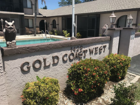 Front Sign to the Gold Coast West Condo complex