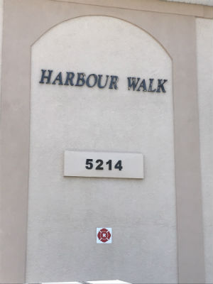 Harbour Walk Address marker Cape Coral