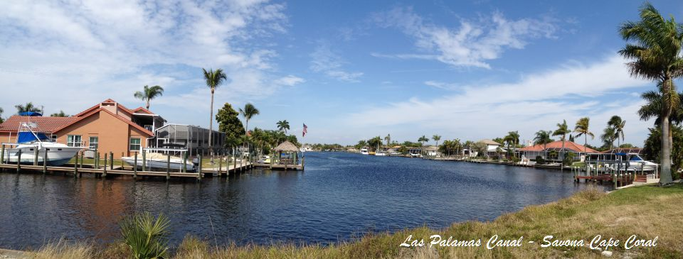 Direct Sailboat Gulf Access canal in Savona area Cape Coral Florida