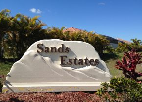Sands Estates Cape Coral Entrance Sign