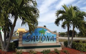Savona Cape Coral Florida Entrance sign