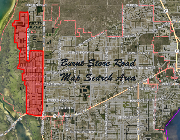 Gulf Access Lots for Sale in the Burnt Store Road Area of Cape Coral