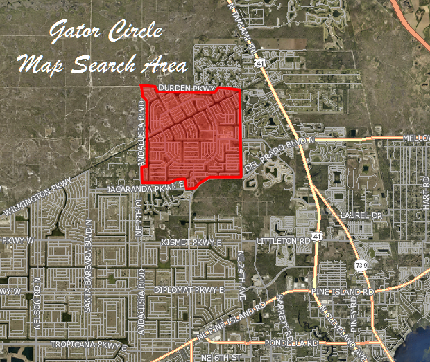 Building Lots For Sale In Cape Corals Gator Circle