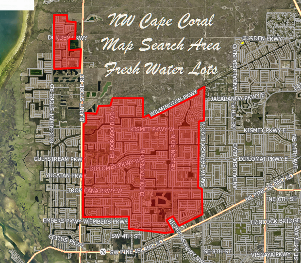 NW Cape Coral Fresh Water Lots For Sale