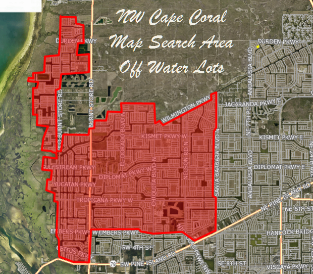 Off Water Lots for Sale in NW Cape Coral Florida