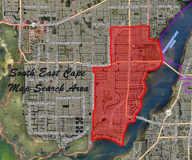 Gulf Access Lots for Sale in SE Cape Coral Florida