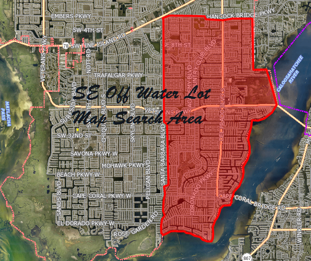 SE Cape Coral Off Water Lots for Sale
