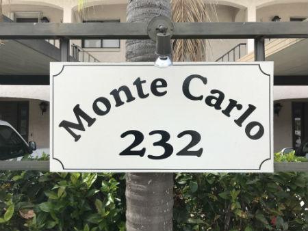 Monte Carlo Condo Cape Coral Sign
