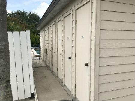 Storage lockers at Monte Carlo Condo Cape Coral