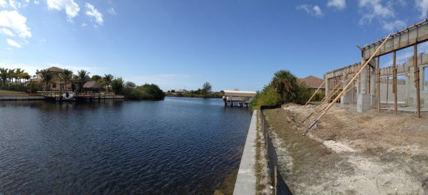 Gulf Access home being built Cape Coral Florida