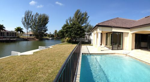 New Construction Home With Pool View On Fresh Water Canal