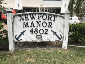 Newport Manors Condo sign