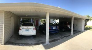 Carports at Par Side Condo Cape Coral Florida
