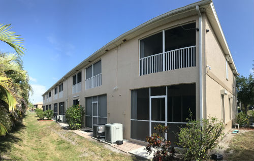 Rear Yards of the Paradise Place I Condos in Cape Coral