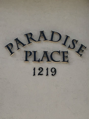 Wall Sign at Paradise Place I Cape Coral
