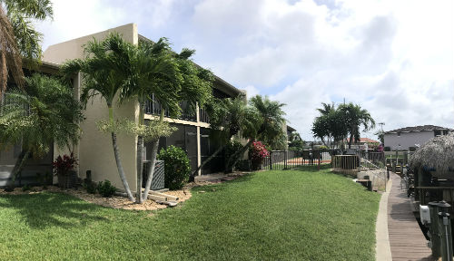 Rear Yard Parkway Place Condo Cape Coral