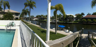 Searay Condo Pool overlooks the canal