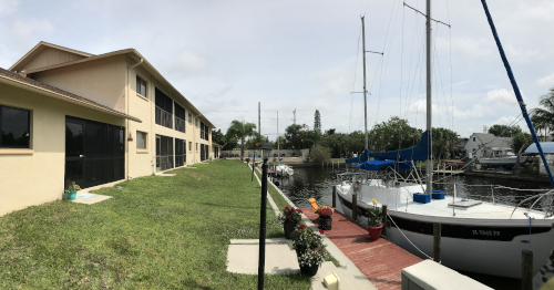 Rear yard to Sorrento Court Condo in Cape Coral