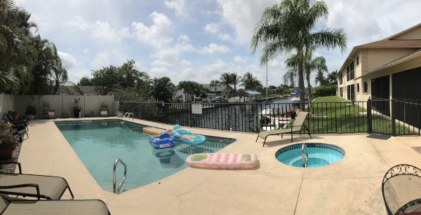 Pool and Spa at Sorrento Court Condo Cape Coral