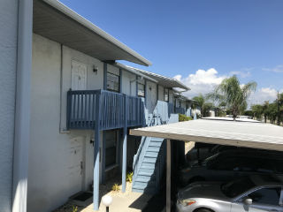 Carports at Southern Palms condo complex Cape Coral