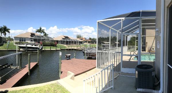 Gulf Access canal Townhouses on SW 47th terrace Cape Coral