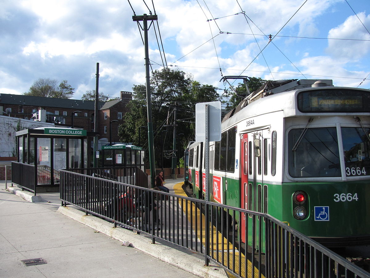 MBTA - Boston College in Brighton
