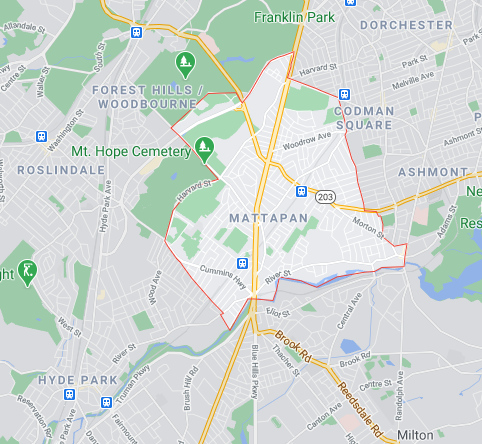 Map of Mattapan