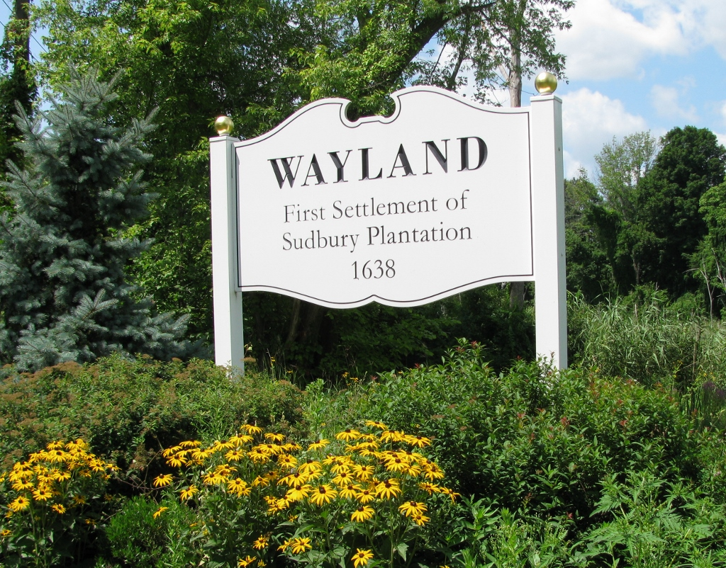 Jim Sells Wayland - Welcome to Wayland Sign courtesy Creative Signs