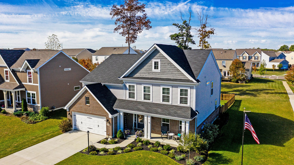 1441 Woodline Drive Aerial View