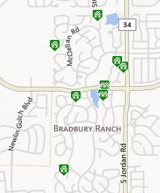 Map of Bradbury Ranch - Parker, CO