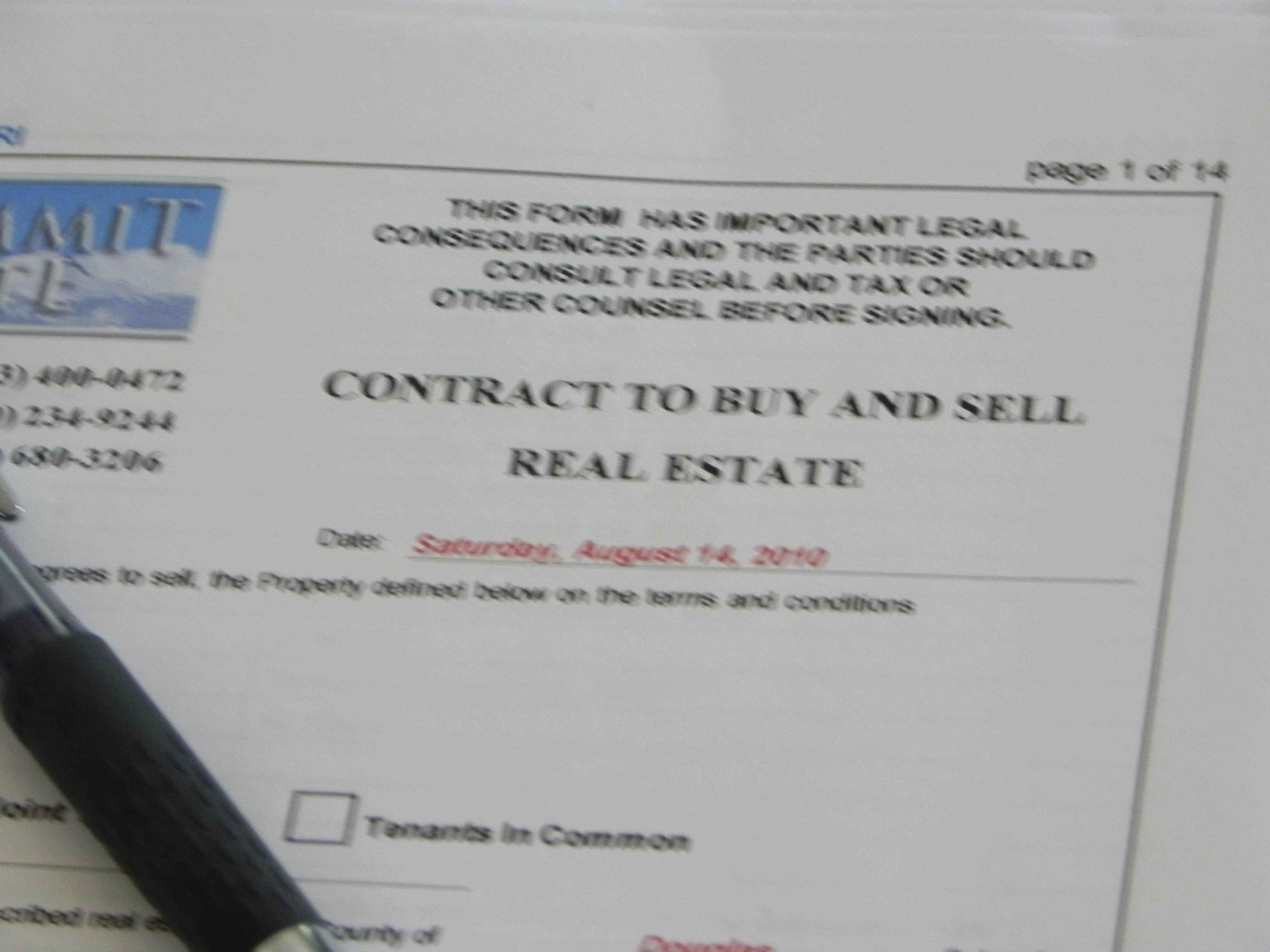Contract to Buy & Sell