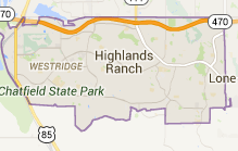 Map of Highlands Ranch