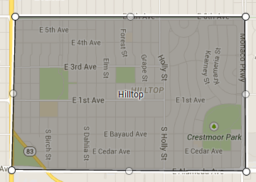 Map of Hilltop