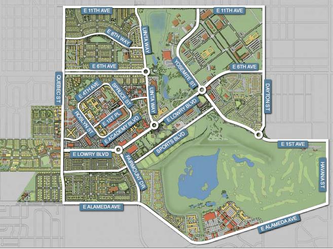 Lowry Street Map