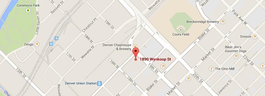 Map to Wynkoop Lofts