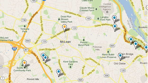 Mclean Homes for Sale Map