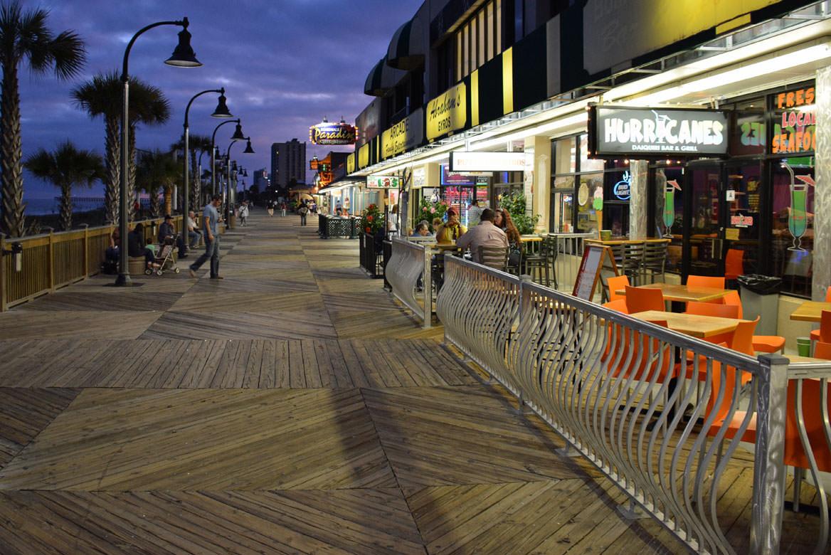 Restaurants and Pubs on Myrtle Beach Boardwalk