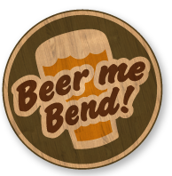 Image of beer coaster that says Beer me Bend!