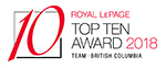 Royal LePage Top Ten Team Award BC 2018