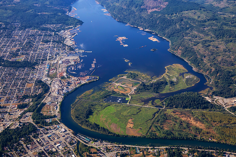 Port Alberni is Centrally Located on Vancouver Island