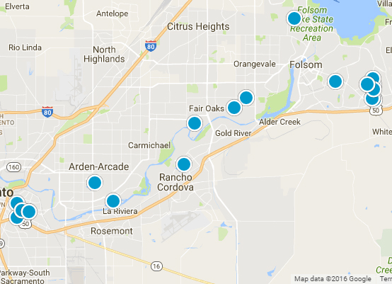 Interactive Sacramento MLS Search map