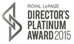 Royal LePage Directors Platinum Award 2015