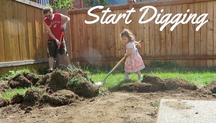 Pea Gravel Patio Project Will Involve Some Digging